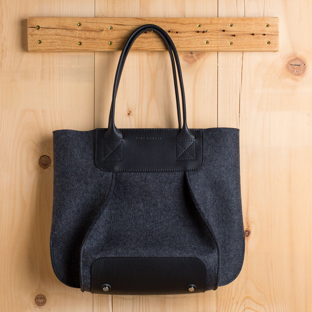 frankie tote-accessories - handbags & clutches-graf lantz-charcoal-petite-k colette