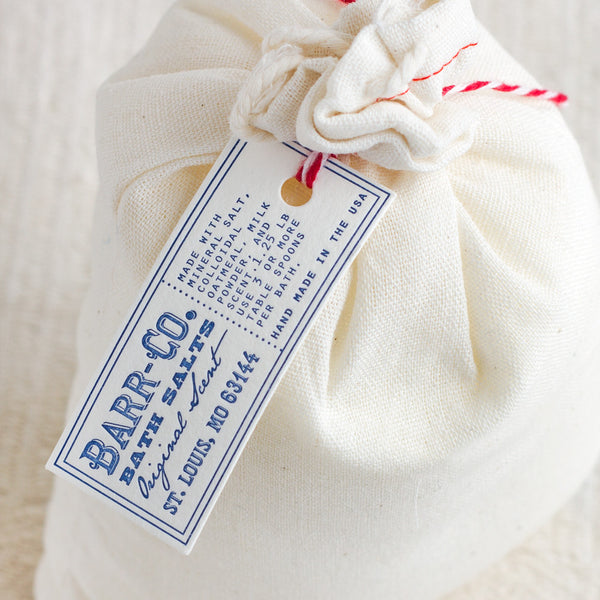original bath salt gift bag-apothecary - salts & scrubs - cozy - for her-barr-co. by k hall designs-k colette