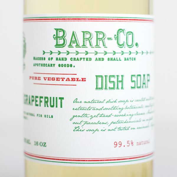 fir & grapefruit dish soap-holiday - apothecary - soaps & lotions-barr-co. by k hall designs-k colette