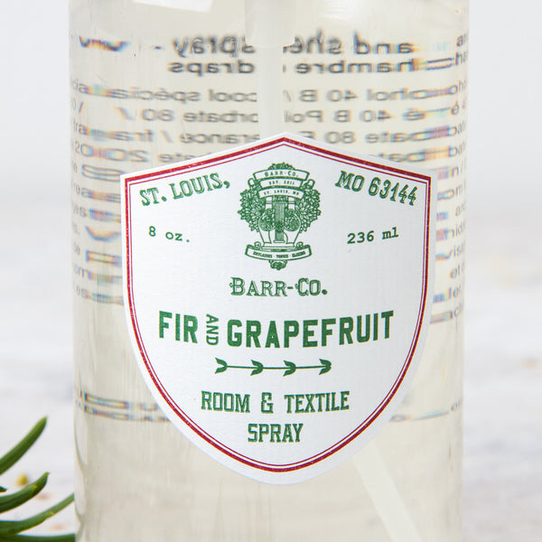 fir & grapefruit room & sheet spray-holiday - apothecary - room sprays & diffusers - fragrance-barr-co. by k hall designs-k colette