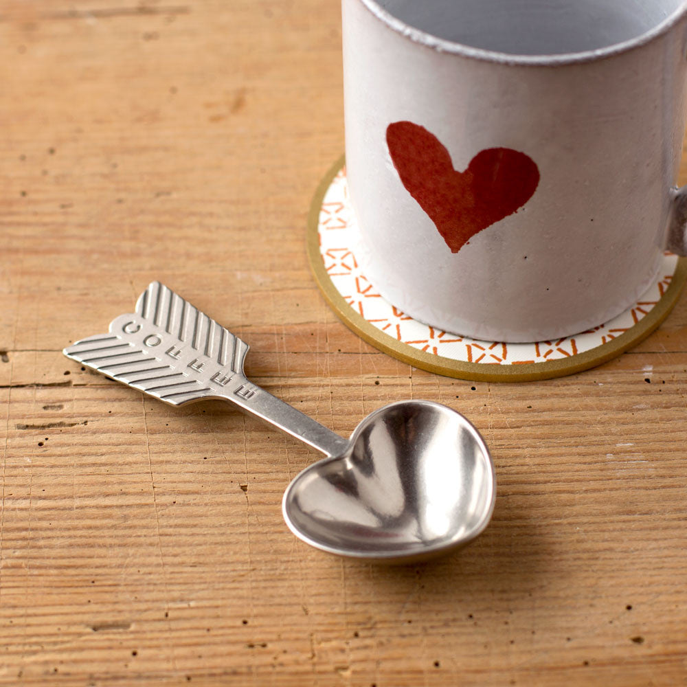 heart coffee scoop-kitchen & dining - cooking & baking - flatware & utensils-beehive handmade-k colette