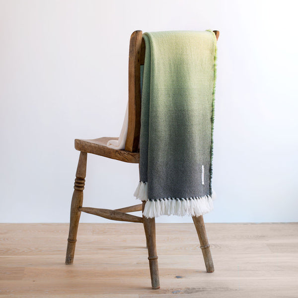 ombre wool throw-textiles - throws - sale-brahms mount-green-k colette