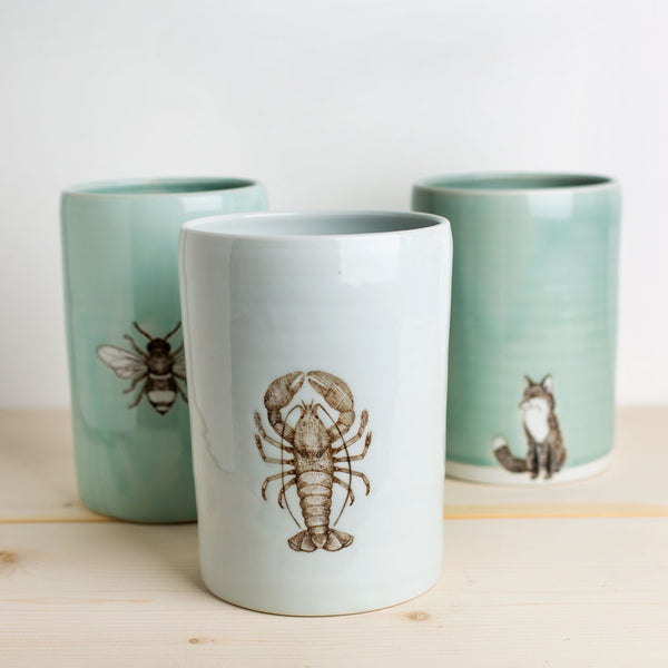 ceramic vase-art & decor - decorative objects-skt ceramics-Celadon Bee-k colette
