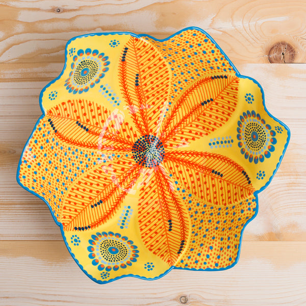 large tulip salad bowl-kitchen & dining - serveware-potterseed-oranges-k colette