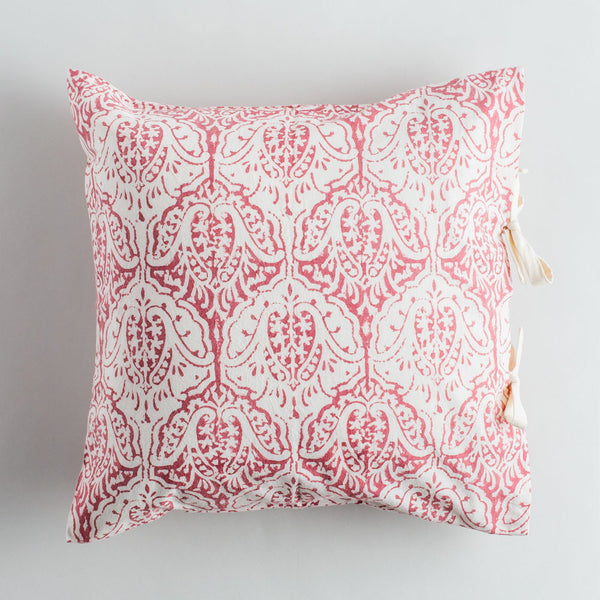 madder red dominique pillow-bed & bath - art & decor - pillows - deck-les indiennes-k colette