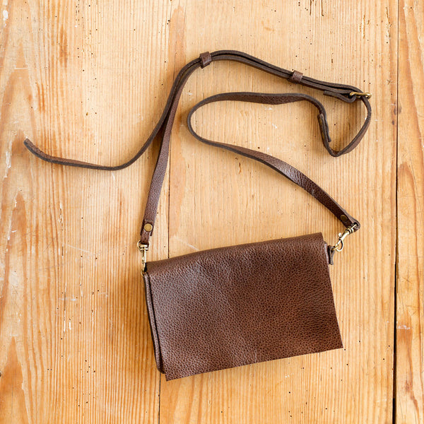 mini messenger bag-accessories - handbags & clutches-stitch & tickle-distressed black-k colette