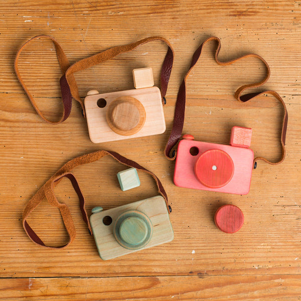 wooden magnetic camera-baby - toys-little miss workbench-red-k colette