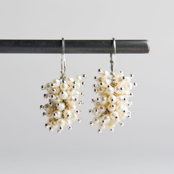pearl cluster earrings-accessories - jewelry-lisa gent jewelry-k colette