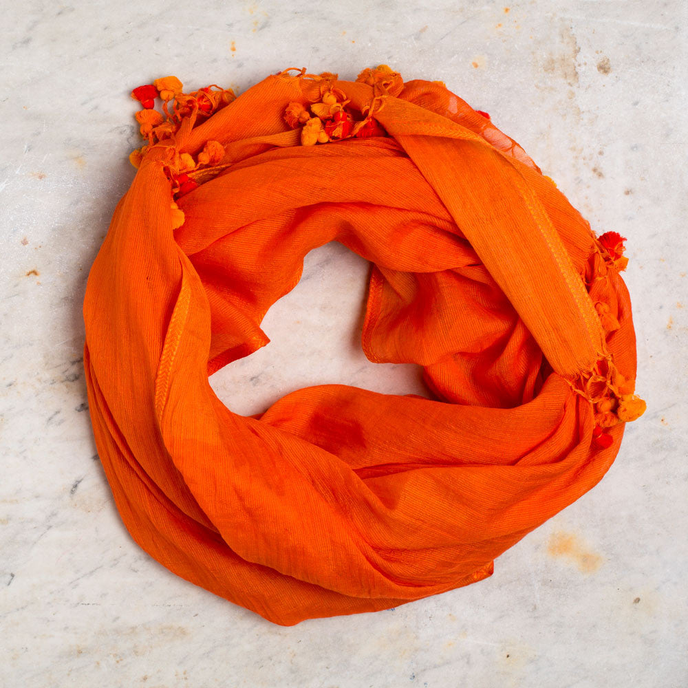 orange baubles scarf-accessories - scarves-indigo handloom-Default-k colette