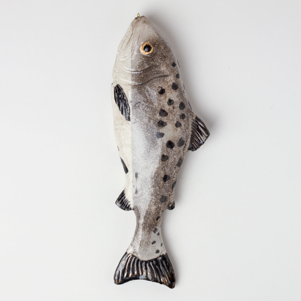 salmon ceramic fish-art & decor - decorative objects-atelier du douire-Default Title-k colette
