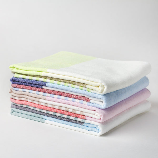 tricolor chambray hand towel-bed & bath - bath towels-yoshii by morihata-k colette
