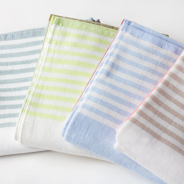 tricolor chambray hand towel-apothecary - bath towels-yoshii by morihata-grey-k colette