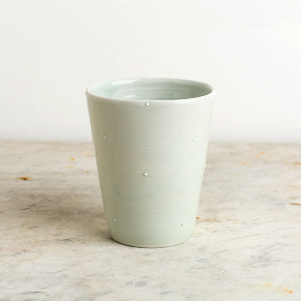 dotted porcelain tumbler-kitchen & dining - bar & drinkware-autumn cipala pottery-k colette