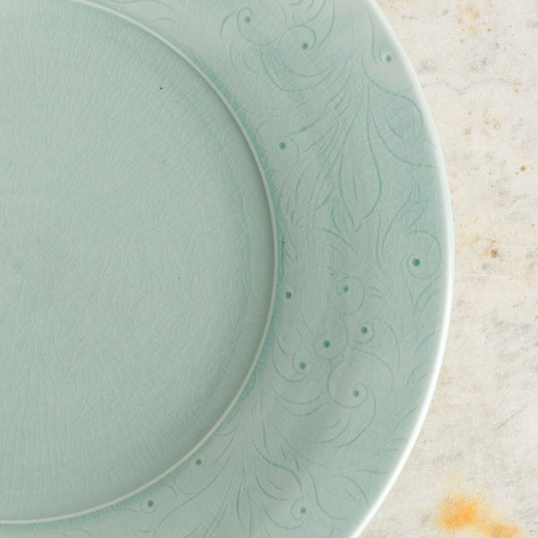 porcelain serving platter-kitchen & dining - serveware-autumn cipala pottery-celadon-large-k colette