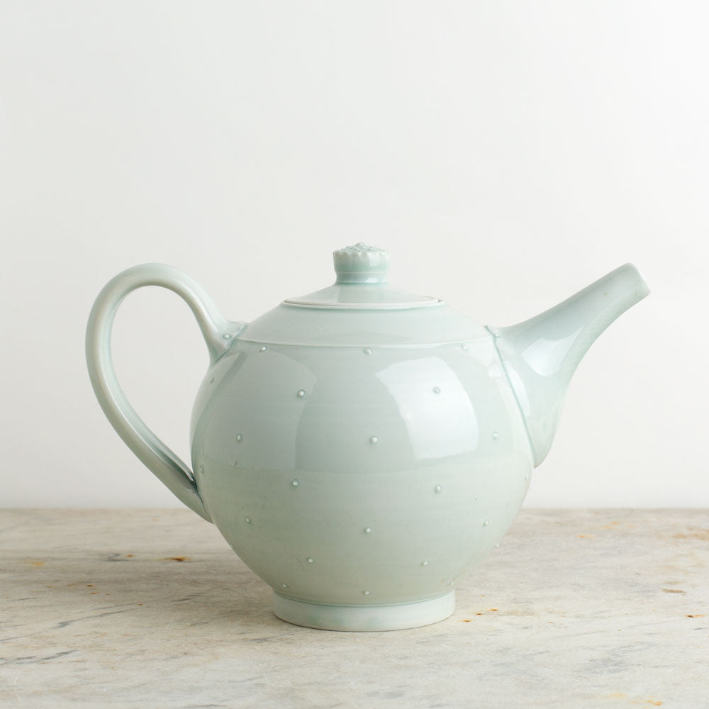 porcelain teapot-final stock-autumn cipala pottery-celadon-two cup-k colette