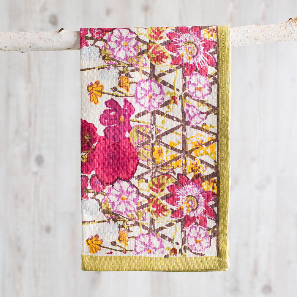 fleur sauvage multi tea towel-kitchen & dining - tea towels & aprons-couleur nature-k colette