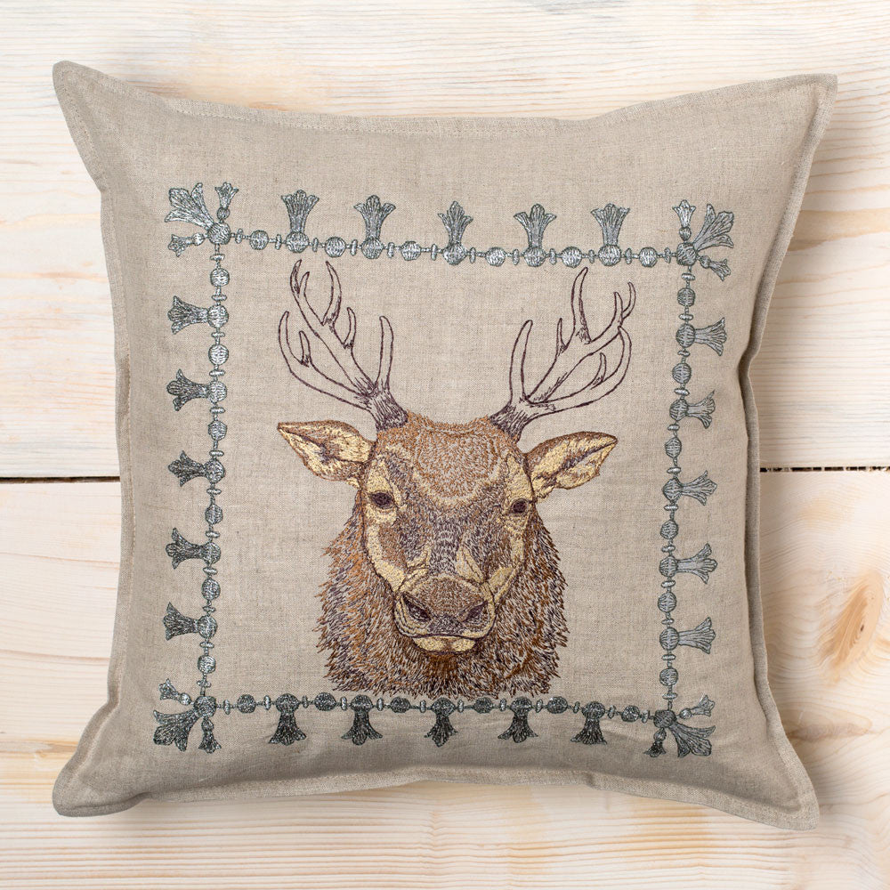 elk border pillow-bed & bath - decor - pillows-coral & tusk-k colette