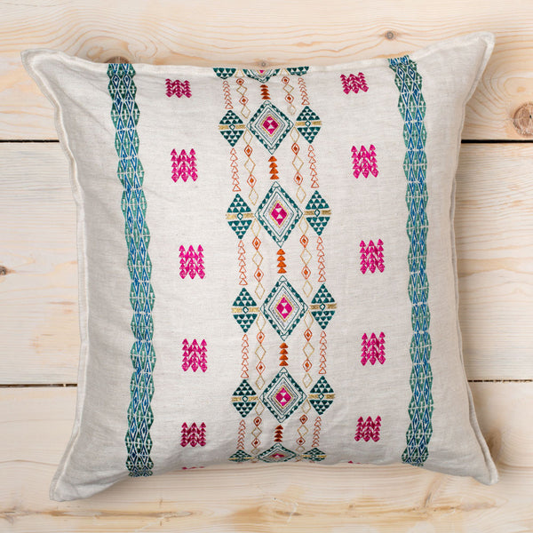 bright berber on ivory pillow-textiles - pillows-coral & tusk-Default Title-k colette