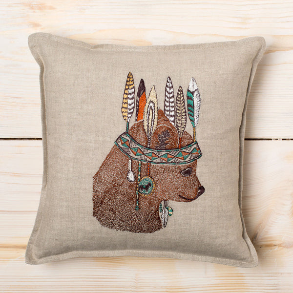 bear portrait pillow-bed & bath - decor - pillows-coral & tusk-k colette