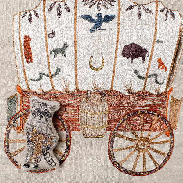 raccoon wagon pocket pillow-bed & bath - decor - pillows-coral & tusk-k colette