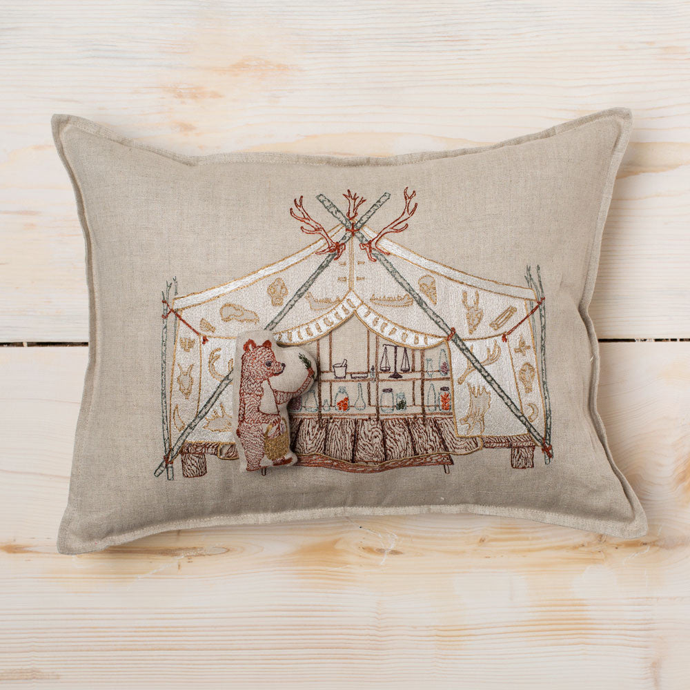 bear apothecary tent pillow-textiles - pillows-coral & tusk-Default Title-k colette