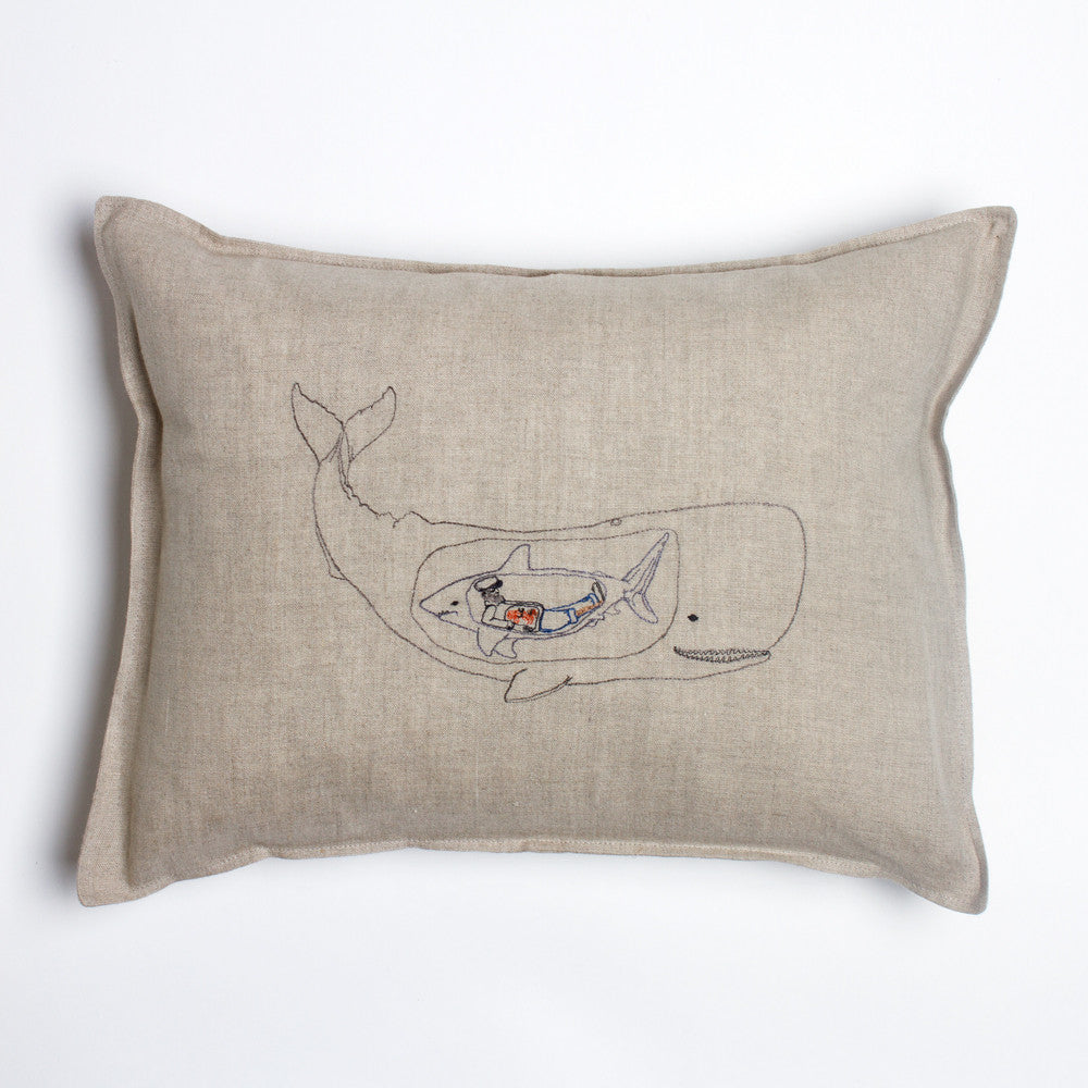 very hungry whale pillow-bed & bath - decor - pillows-coral & tusk-k colette