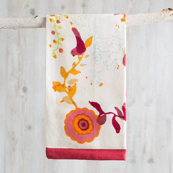 treetop multi red tea towel-kitchen & dining - tea towels & aprons-couleur nature-k colette