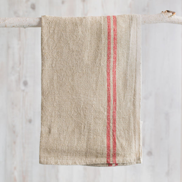 khadi vintage linen tea towel-kitchen & dining - tea towels & aprons-couleur nature-k colette