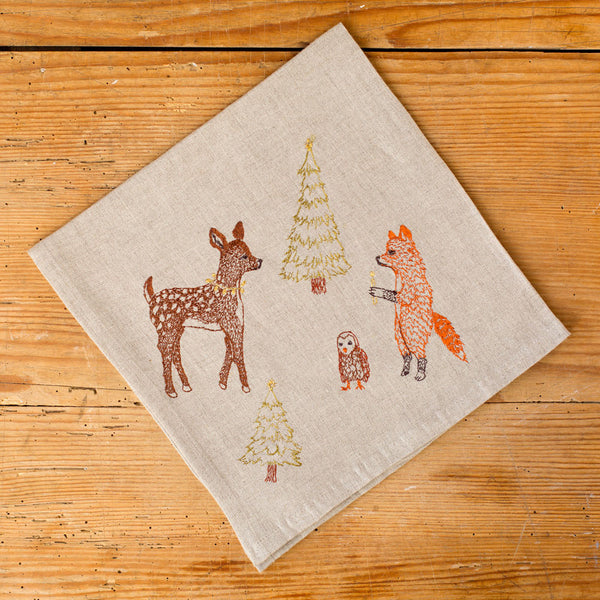 forest glow napkin-holiday - kitchen & dining - table linens-coral & tusk-Default-k colette