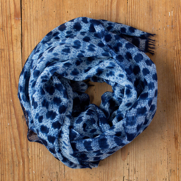 speckle shibori cashmere scarf-accessories - scarves - stylish-sudarshan-k colette