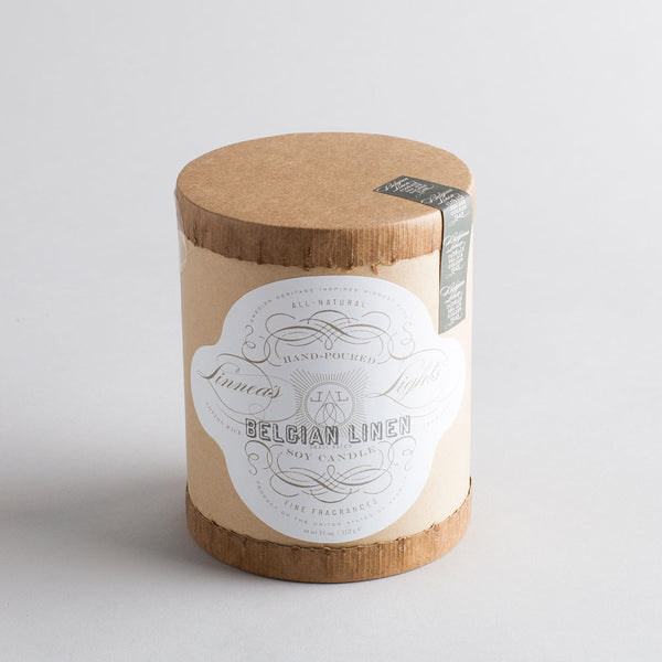 belgian linen candle-art & decor - apothecary - candles-linnea's lights-k colette