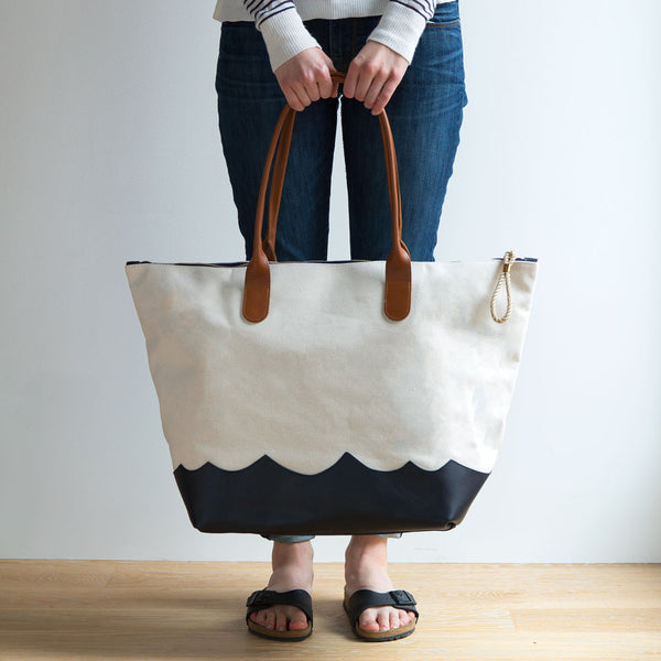 wave weekender bag, natural-accessories - handbags & clutches-eklund griffin-Default-k colette