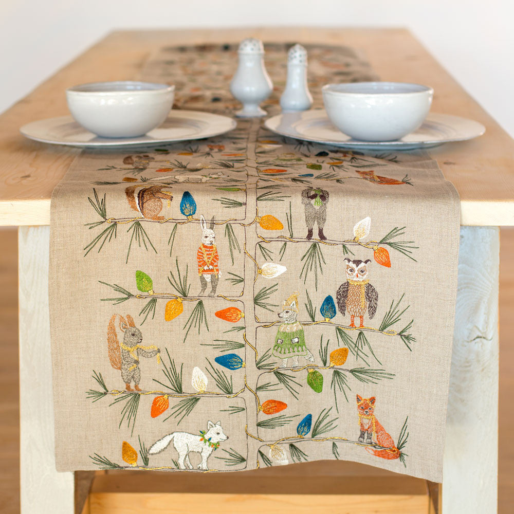 ... Christmas Tree Trimmers Table Runner Holiday   Kitchen U0026 Dining   Table  Linens Coral ...