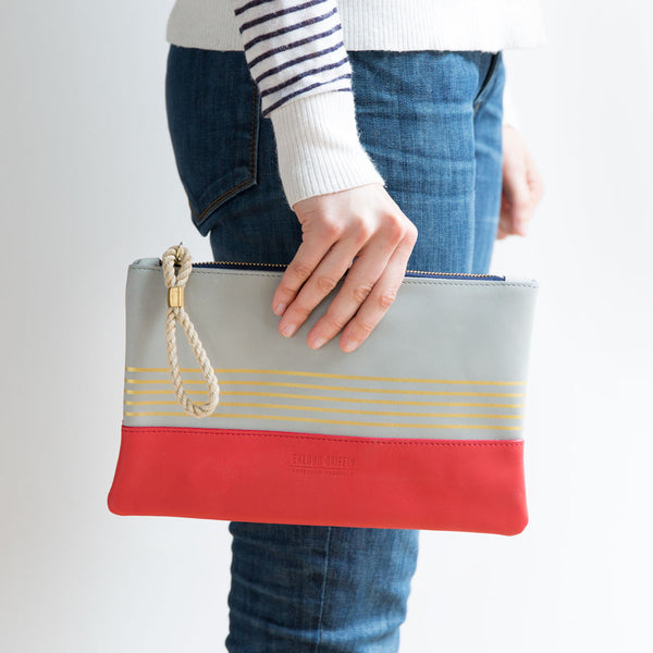 buoy block clutch, mist & coral-accessories - handbags & clutches-eklund griffin-k colette