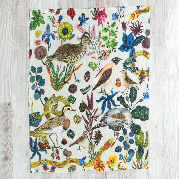 birds in the dunes tea towel-kitchen & dining - table linens-avenida home-k colette