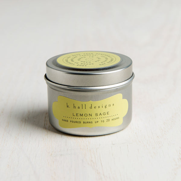 lemon sage travel candle-apothecary - candles-k hall designs-k colette