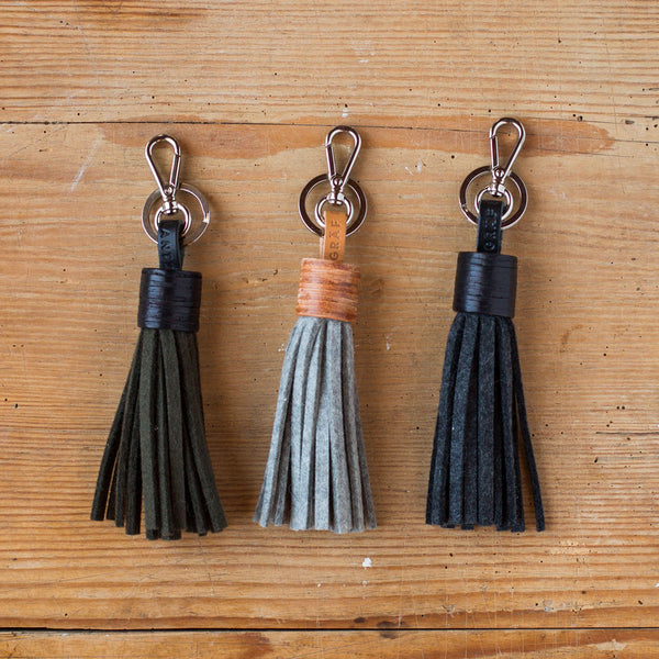 felt bag tassel-accessories - handbags & clutches-graf & lantz-charcoal-k colette