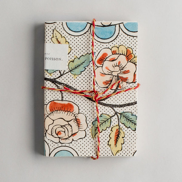 domino handmade paper notebook-desktop - journals - books-antoinette poisson-k colette