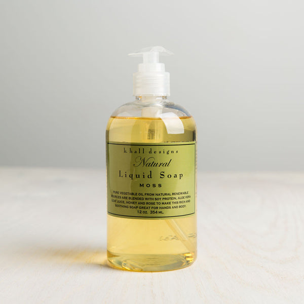 moss liquid hand soap-apothecary - soaps & lotions-k hall designs-Default-k colette
