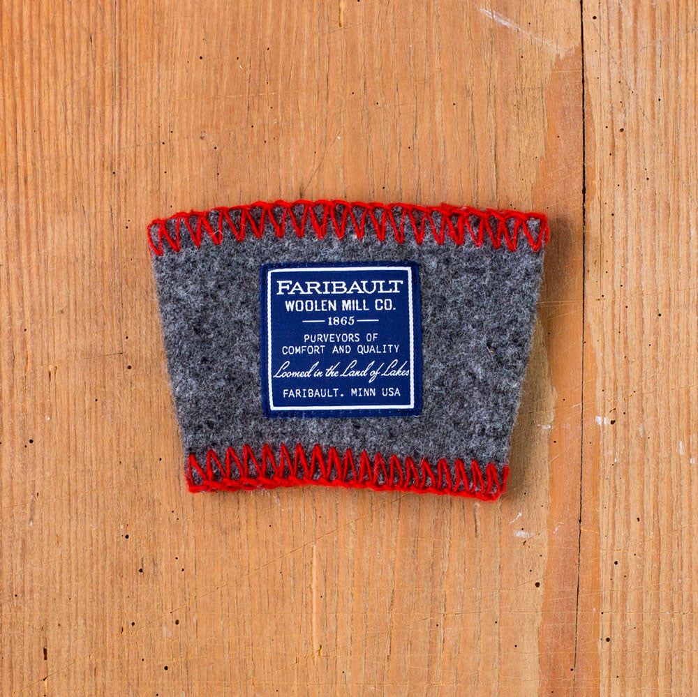 recycled wool coffee cup sleeve-faribault woolen mill co.-grey-k colette