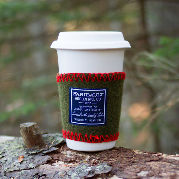 recycled wool coffee cup sleeve-kitchen & dining - bar & drinkware-faribault woolen mill co.-mixed-k colette
