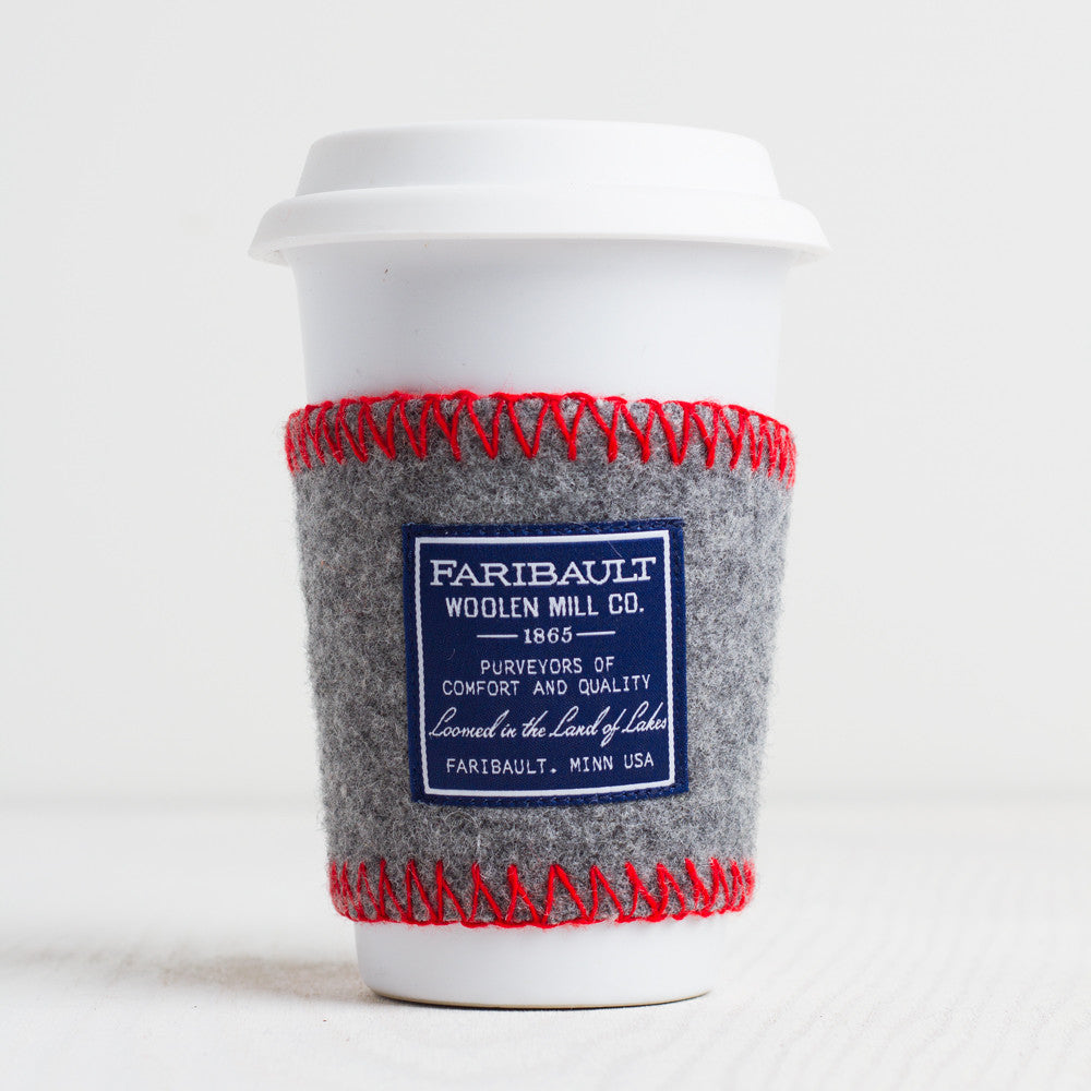 recycled wool coffee cup sleeve-faribault woolen mill co.-k colette