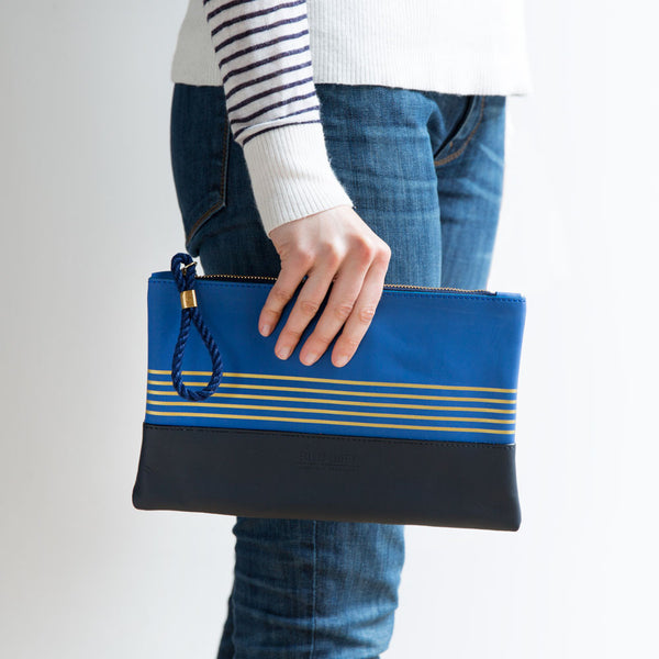 buoy block clutch, cobalt & navy-accessories - handbags & clutches - maine-eklund griffin-k colette