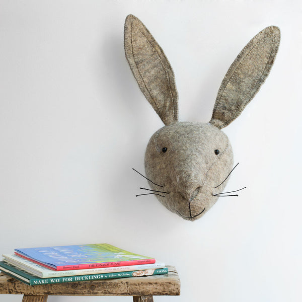 hare head-baby - nursery decor-fiona walker-k colette
