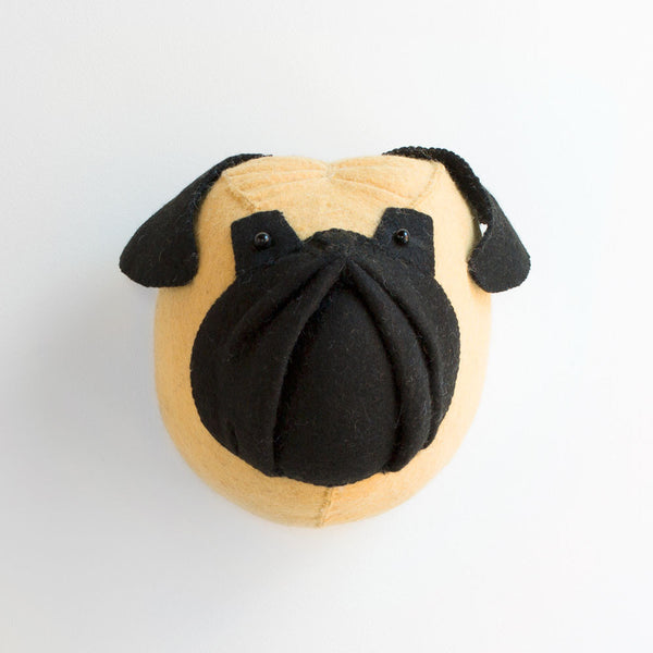pug dog head-baby - nursery decor - sale-fiona walker-k colette
