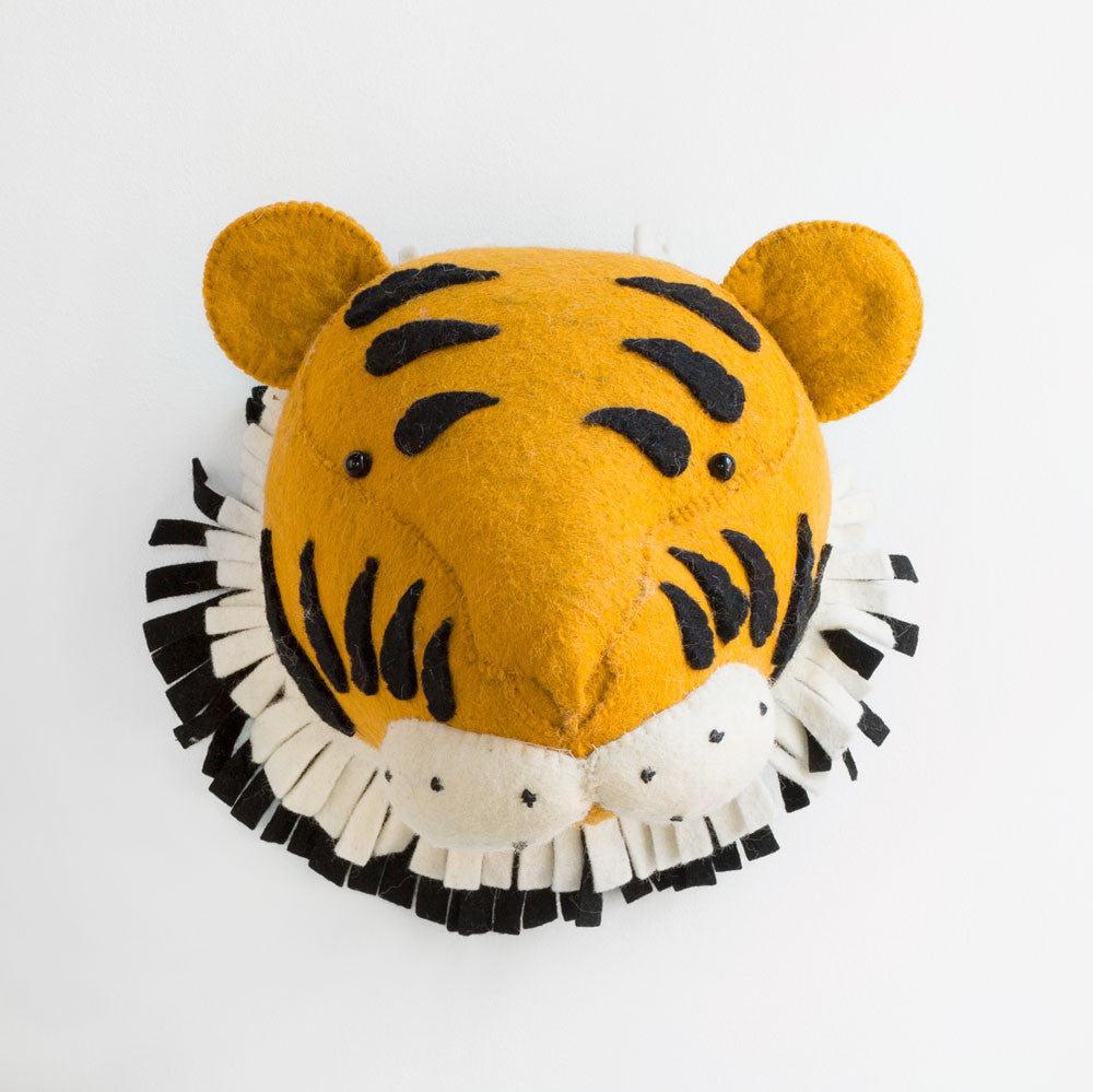 tiger head-baby - nursery decor-fiona walker-k colette
