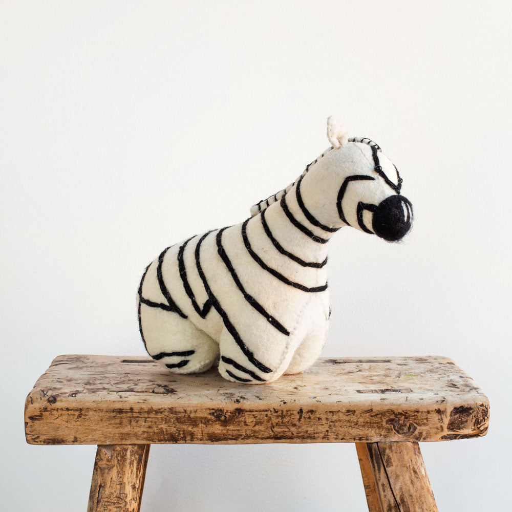 zebra door stopper-baby - nursery decor-fiona walker-k colette