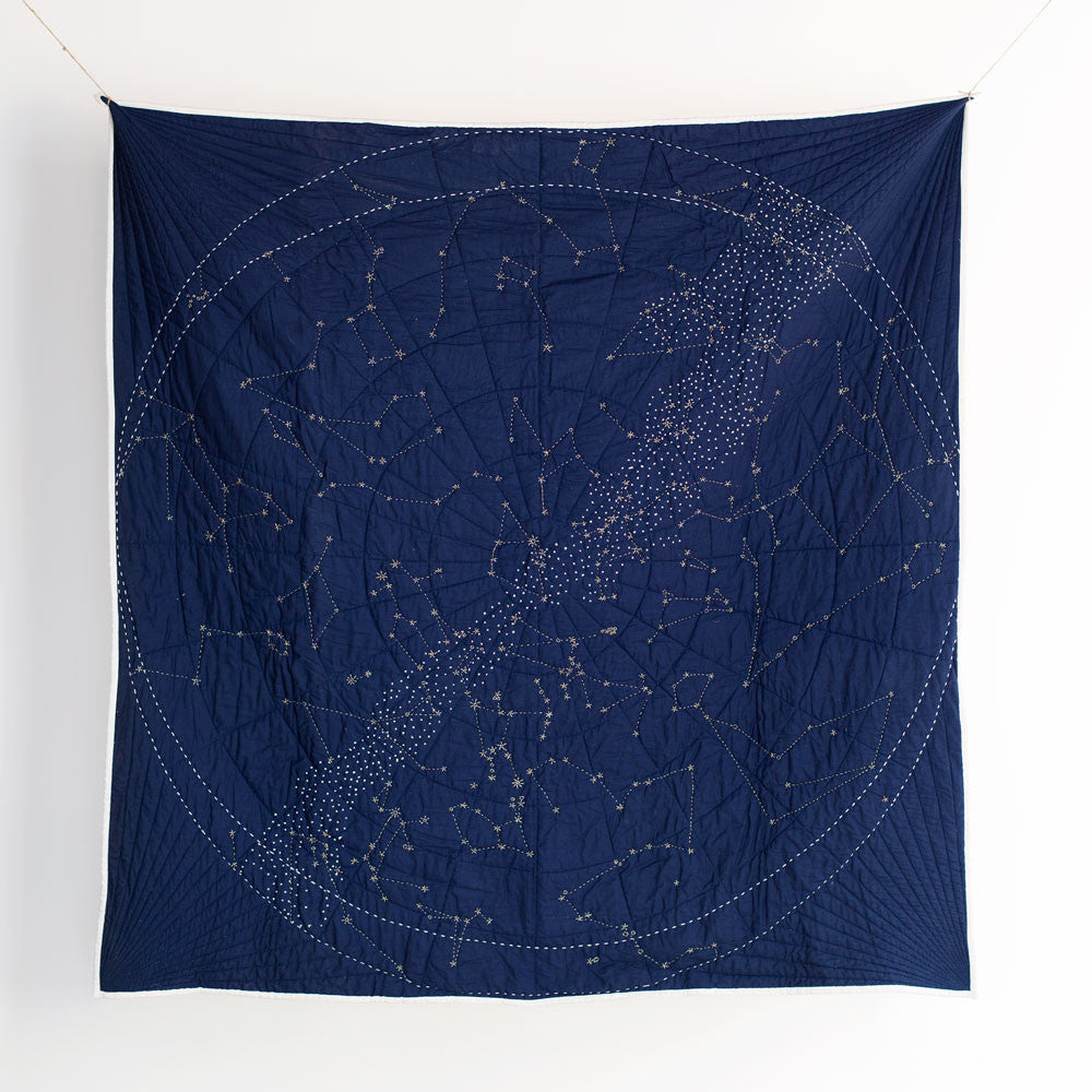 constellation quilt, navy-bed & bath - bedding - art & decor - throws - thank-haptic lab-k colette