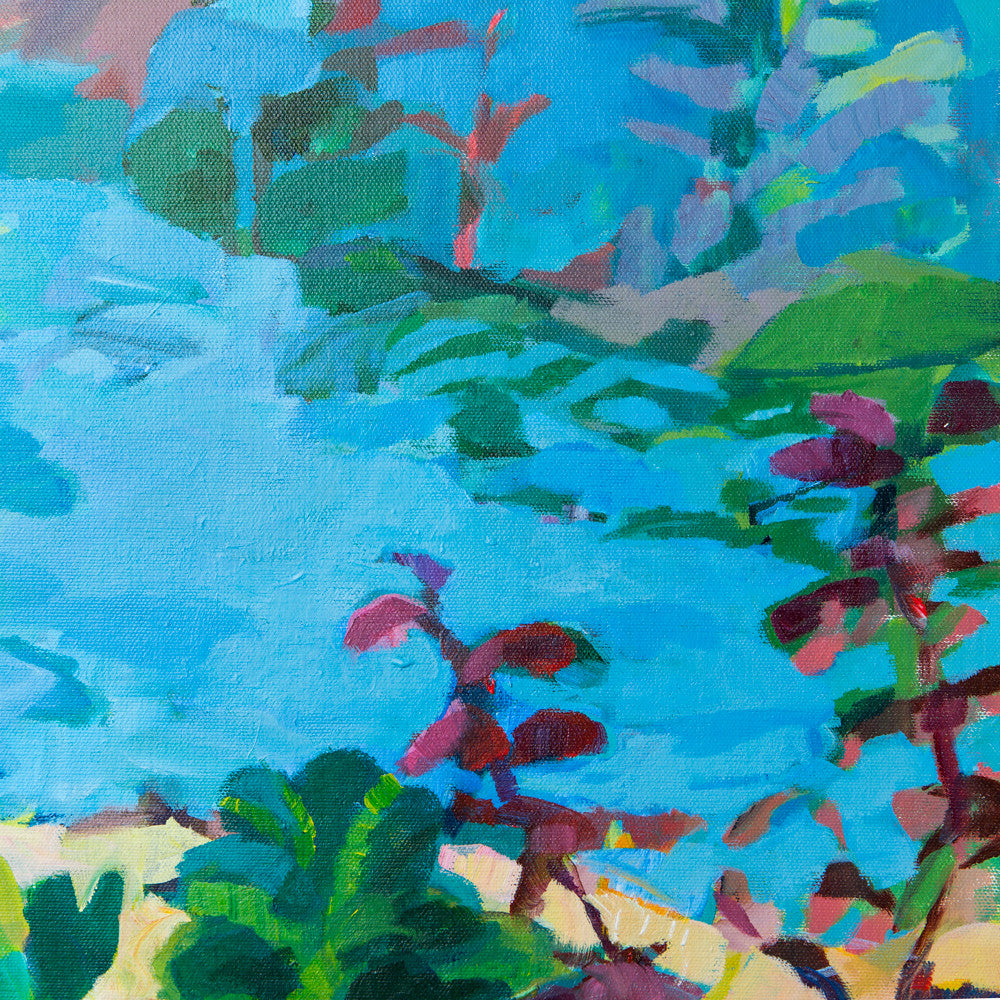 blue landscape with beach-art & decor - paintings & prints-holly brooks-Default-k colette