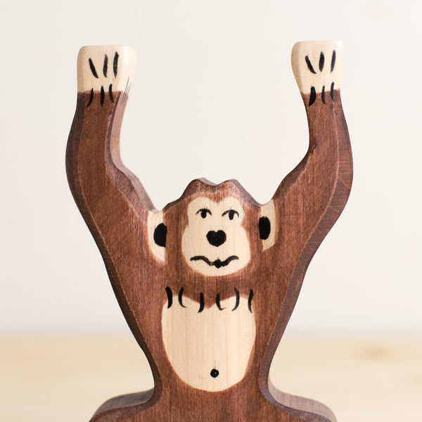 chimpanzee, standing-baby - toys-holztiger-k colette